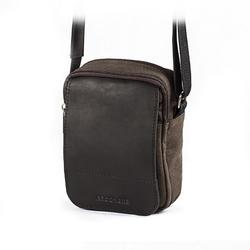 Męska torba listonoszka na ramię brødrene brąz + czarny ml04