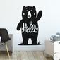 Naklejka na ścianę - friendly bear , wymiary naklejki - szer. 60cm x wys. 90cm