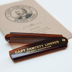 Captain fawcett folding pocket beard comb cf.82t - ręcznie robiony składany grzebień do brody