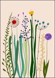 Polne kwiaty ii - plakat wymiar do wyboru: 59,4x84,1 cm