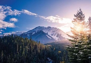 Góry skaliste kanada - fototapeta
