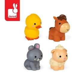 Zestaw figurek do kąpieli 4 zwierzątka z farmy 10 m+, janod