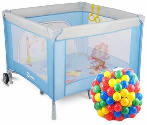 Lionelo Stella Niebieski Kojec dla dziecka + 62 piłeczki