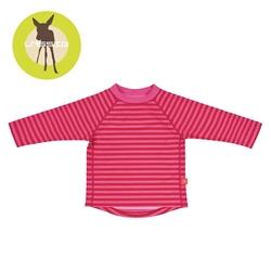 Koszulka do pływania z długim rękawem pink stripes , uv 50+