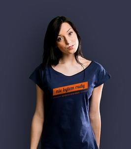 Nie byłem rudy t-shirt damski granatowy xxl