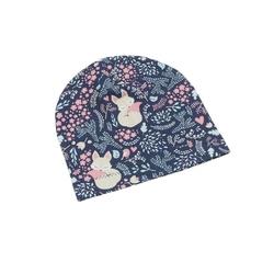 czapka dresowa śpiące liski  44-48 wiek 1-2 lata