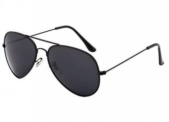 Okulary aviator czarne pilotki przeciwsłoneczne 2161a