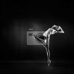 Plakat portret młodej pięknej kobiety gimnastyczki