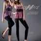 Gabriella 139 microfibra long grafitowy legginsy