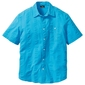 Koszula z kory, krótki rękaw bonprix turkusowy
