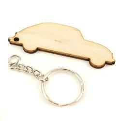 Drewniany breloczek - samochód - samo