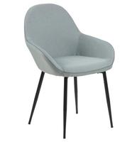Nowoczesne krzesło tapicerowane tkaniną amara dusty green