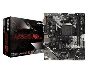 ASRock Płyta główna AB350M-HDV R4 AM4 2DDR4 DSUBDVIHDMI mATX