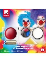 Zestaw farb do twarzy klaun + czerwony nos clown