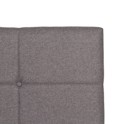 Łóżko tapicerowane allana 140x200 cm szare