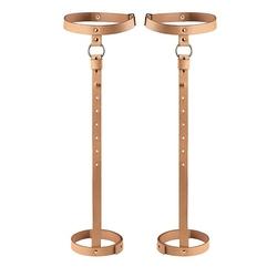 Sexshop - bijoux indiscrets maze back leg garter  brązowy - podwiązki skórzane - online