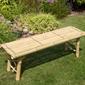 Ławka ogrodowa z bambusa ławeczka bambusowa do ogrodu homestyle4u