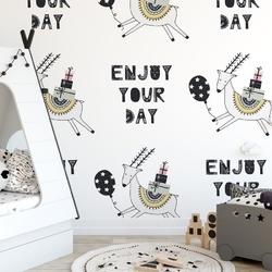 Tapeta dziecięca - enjoy your day , rodzaj - próbka tapety 50x50cm