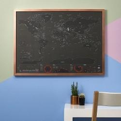 Mapa zdrapka stolice