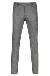Spodnie męskie szare z flaneli - rozmiar 46 46