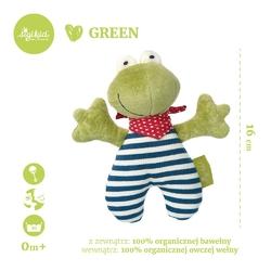 Przytulanka grzechotka sigikid green - żabka