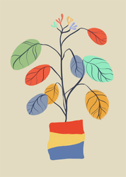 Kolorowe liście - plakat Wymiar do wyboru: 50x70 cm