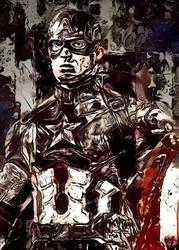Legends of bedlam - kapitan ameryka, marvel - plakat wymiar do wyboru: 30x40 cm