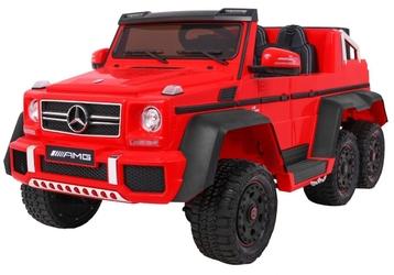 Mercedes g63 6x6 mp3 czerwony - dwuosobowy samochód na akumulator do 110kg