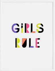 Plakat Girls Rule 40 x 50 cm