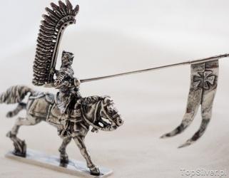 Polska husaria 5 - srebrna figurka winged hussar