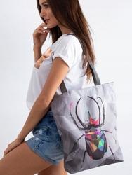 Torebka damska shopper bag lorenti sunny skarabeusz 028 - szary
