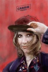 Carrie fisher - plakat premium wymiar do wyboru: 42x59,4 cm
