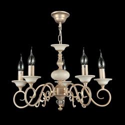 Żyrandol klasyczny perłowo-złoty perla maytoni classic arm337-05-r