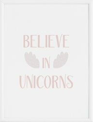 Plakat believe in unicorns 70 x 100 cm