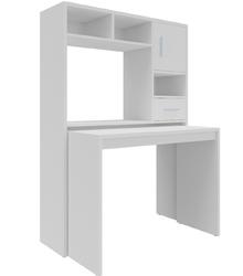 Biurko z nadstawką Sana 154 cm białe nowoczesne