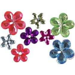 Kryształki dekoracyjne kwiatuszki -zestaw 252 szt.