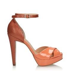 Brzoskwiniowe sandały