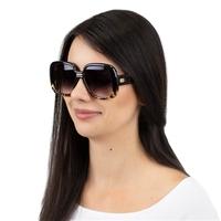 Okulary damskie przeciwsłoneczne duże panterkowe
