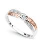Pierścionek z białego i różowego złota pr.585 z diament h i1 nieskończoność