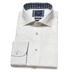Lniana biała koszula profuomo originale 39