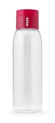 Jj - butelka na wodę dot 600ml, różowa - różowy || przezroczysty
