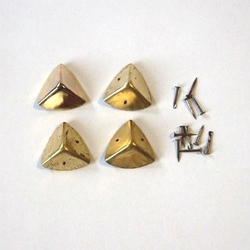 Metalowy narożnik 4 sztuki - złoty