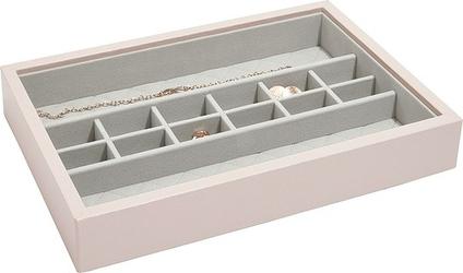 Szkatułka na biżuterię loves luxury 14 komór jasnoróżowa