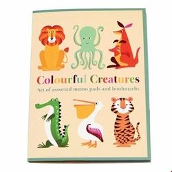 Kolorowe karteczki zwierzaki Rex London