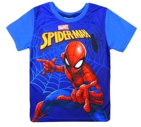 T-shirt z krótkim rękawem spiderman niebieski