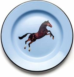 Talerz Seletti Wears Toiletpaper emaliowany Horse