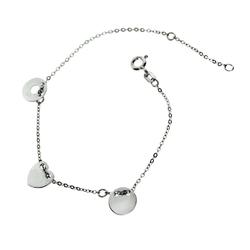 bransoletka celebytka srebro 3 elementy
