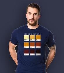 Wyprzedaż - beers colours męska m t-shirt męski granatowy s