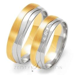 Obrączki ślubne złoty skorpion – wzór au-oe202
