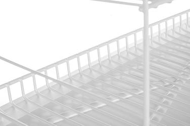 Suszarka do naczyń z rynienką 3 poziomy biała